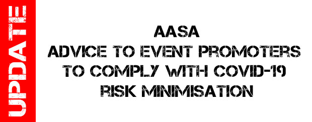 Advice to event promoters to comply with COVID-19 risk minimisation